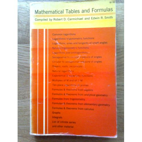 Mathematical Tables and Formulas