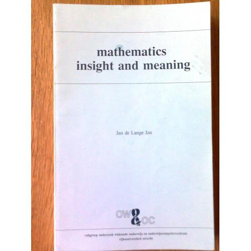 Mathematics, Insight and Meaning